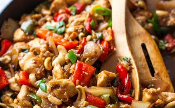 20 Minute Paleo Cashew Chicken Recipe