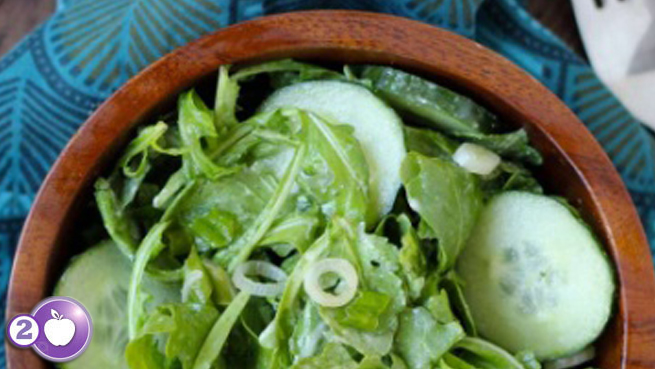 [PCOS Food Friday] Arugula Salad with Lemon Tahini Dressing