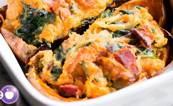 [PCOS Food Friday] Twice Baked Sweet Potatoes